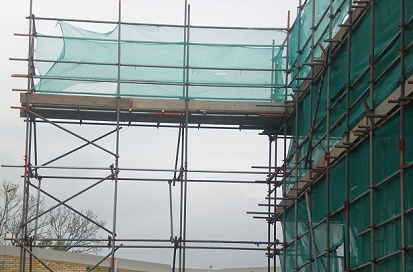 This is an example of a walkway scaffold.
