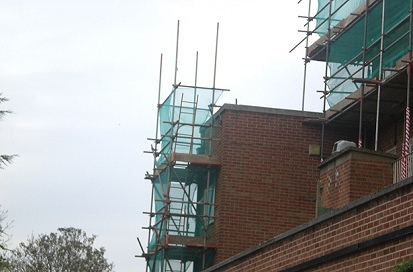 An example of an access tower scaffold for The London Borough of Enfield.