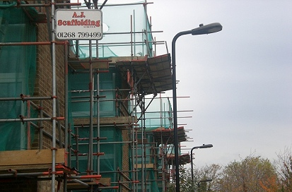 An example of an independent scaffold erected for The London Borough of Haringey.