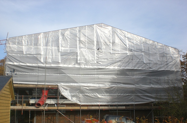 Sheeted Temporary Roof Scaffold